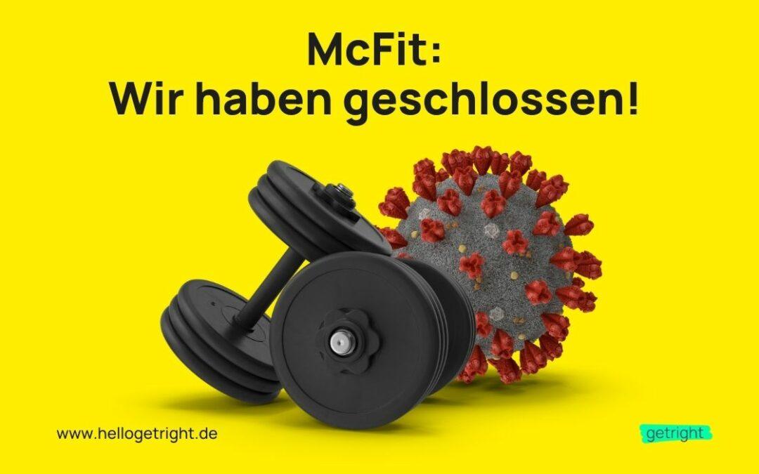 McFit Fitnessbeiträge zurückfordern