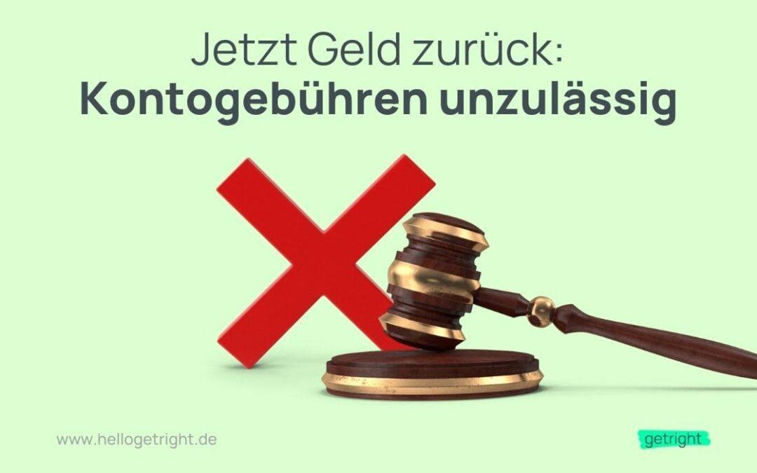 BGH Urteil Kontogebühren unzulässig zurückfordern